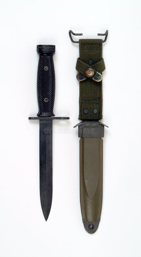 Vietnam period American M7 bayonet for M16 rifle stock image