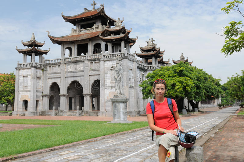 Vietnam - Phat Diem Cathedral stock photos