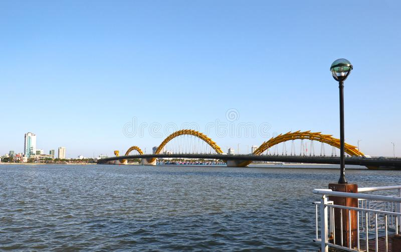 Vietnam, Rong bridge or Dragon bridge across Han river .Danang City. Vietnam, Rong bridge or Dragon bridge across the Han river .Danang City stock photos