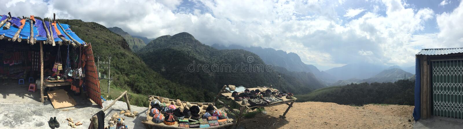 Vietnam Sapa Countryside uphill blue sky royalty free stock photography