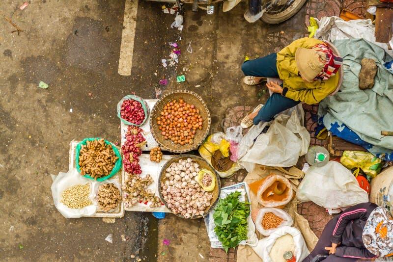Vietnam street market lady seller. At Hanoi, Vietnam stock photos