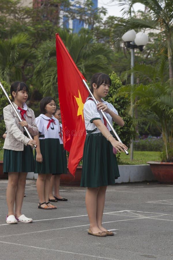 Vietnam studenter arkivbild