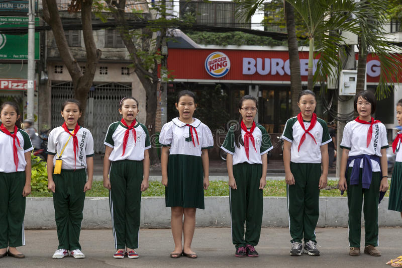 Vietnam studenter royaltyfri foto