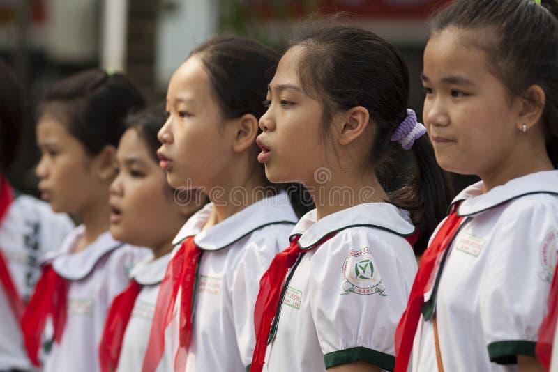 Vietnam studenter arkivfoton