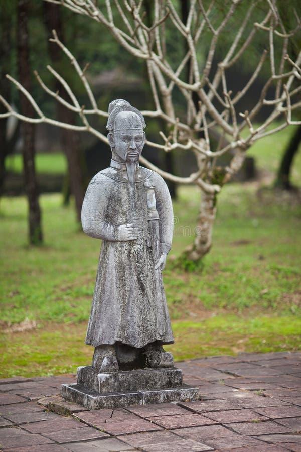 Vietnam ton Krigarediagram på den Thien Mu pagoden arkivfoton