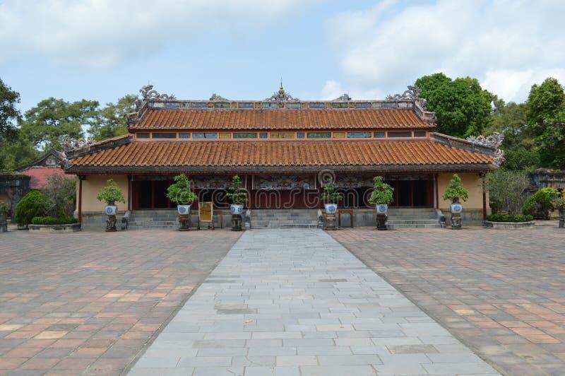 Vietnam - tonalidad - cantado un templo en los mausoleos reales - Minh Mang imagen de archivo libre de regalías