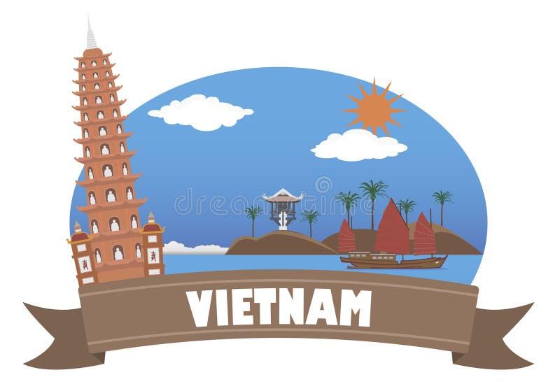 vietnam Turism och lopp stock illustrationer