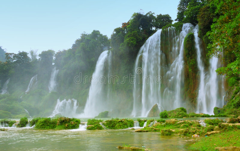 vietnam vattenfall arkivbilder