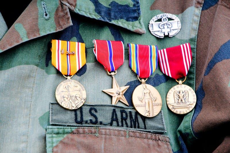 Vietnam veteran's uniform stock photos