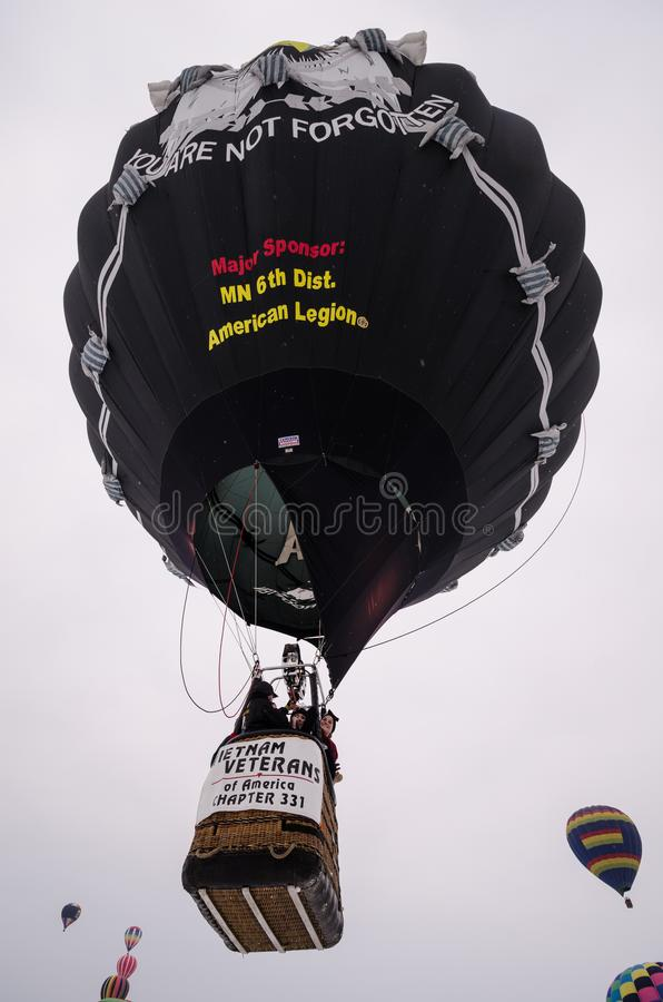 Vietnam veterans hot air balloon launches into the sky royalty free stock photo