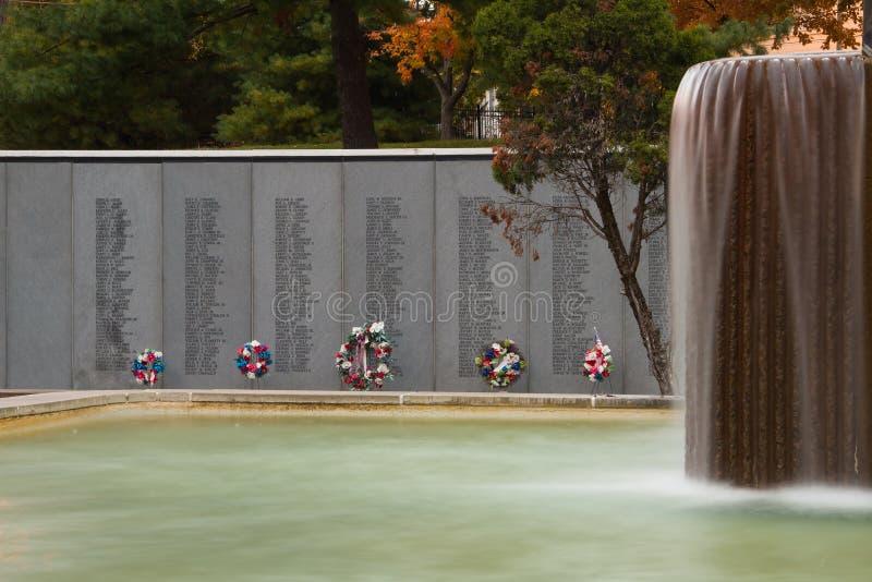 Vietnam Veterans Memorial in Kansas City stock photos