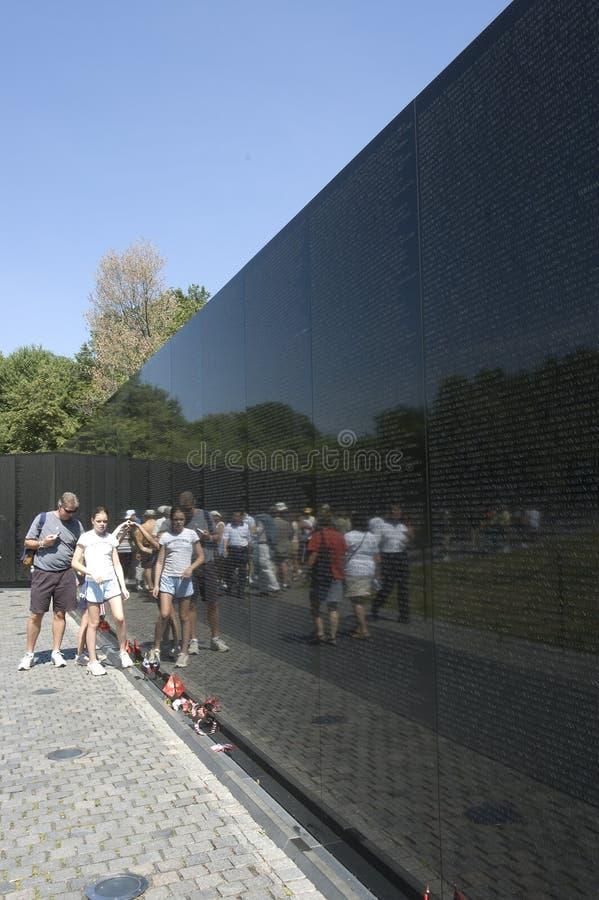 Vietnam Veterans Memorial wall royalty free stock photo