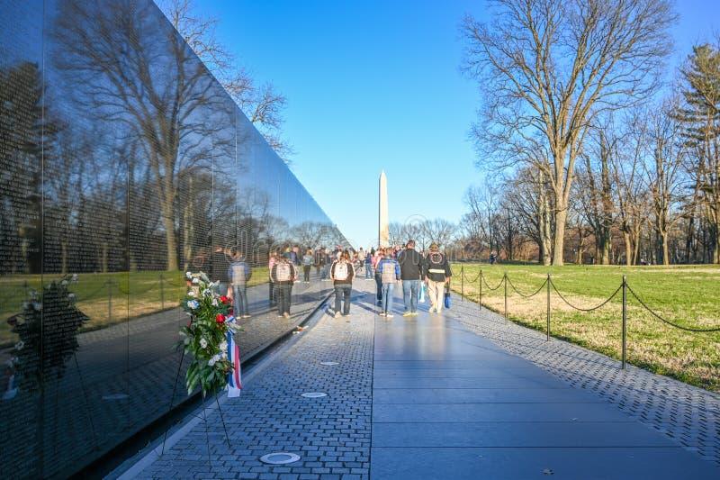 Vietnam Veterans Memorial in Washington DC stock photos