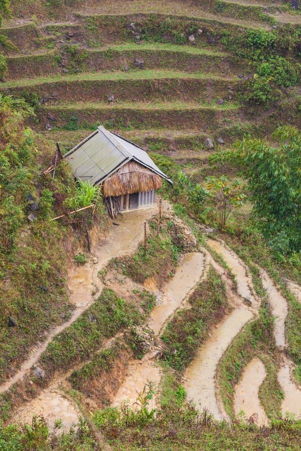 Vietnam, vista de la casa del granjero en el PA del Sa imagenes de archivo