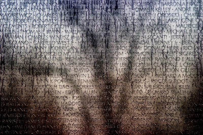 Vietnam wall of names War memorial stock images