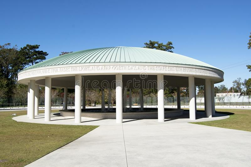 Vietnam War Memorial Fountain Jacksonville, NC royalty free stock photos