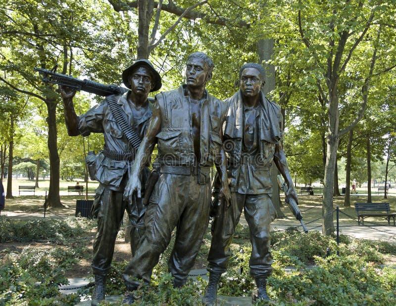 Vietnam war memorial statues royalty free stock photo