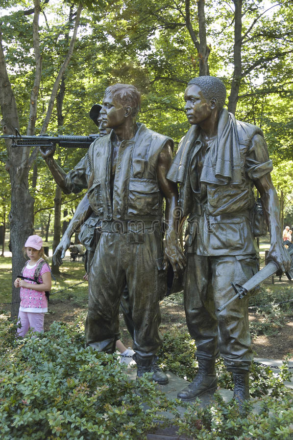 Vietnam war memorial Three Soldiers statues royalty free stock images