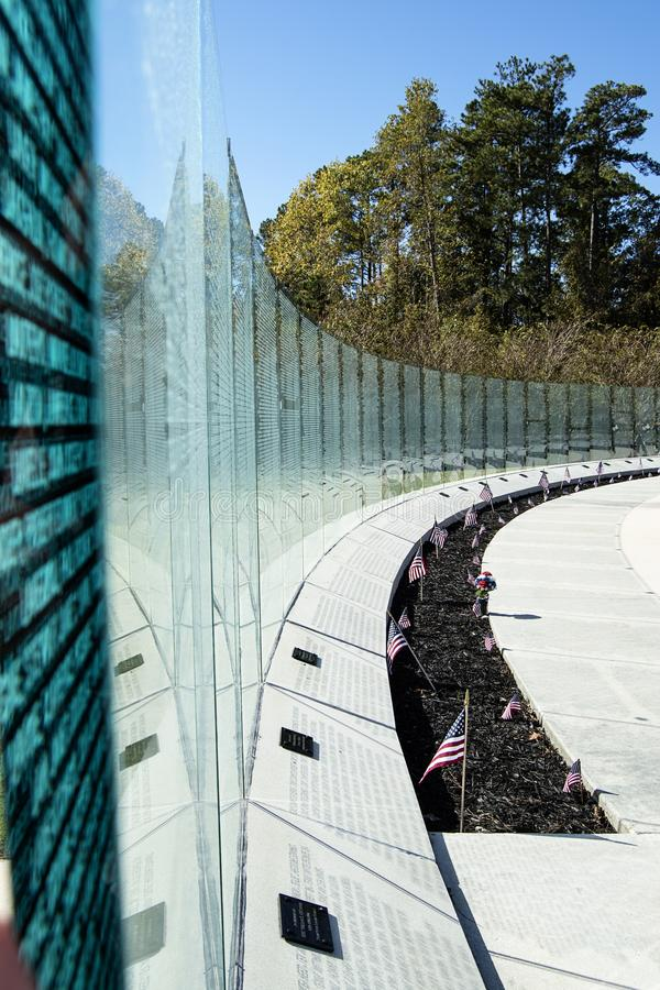 Vietnam War Memorial Wall Jacksonville, NC stock photography