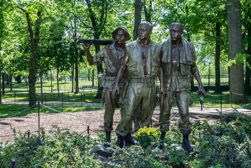 Vietnam War Veterans Memorial stock images