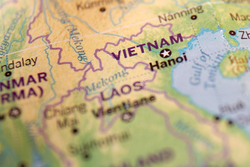 Vietnam on the world map, background. Vietnam on the world map, abstract background royalty free stock photos