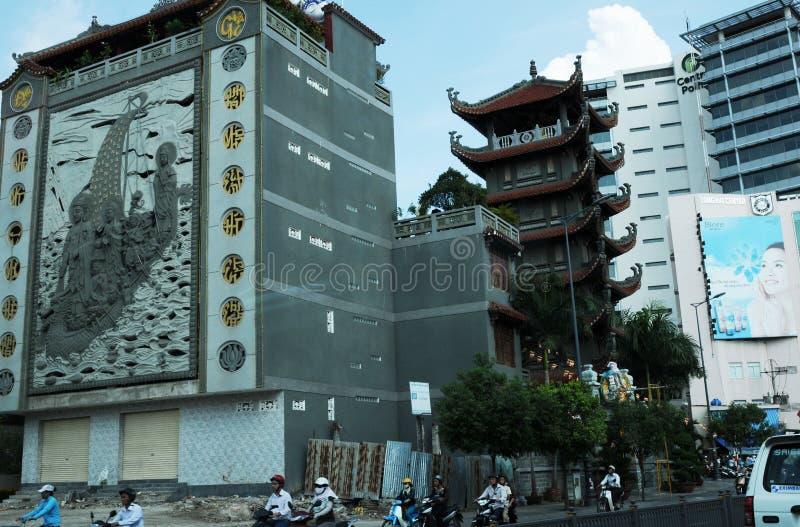 Vietname: A embaixada chinesa em Ho Chi Ming City /Saigon foto de stock