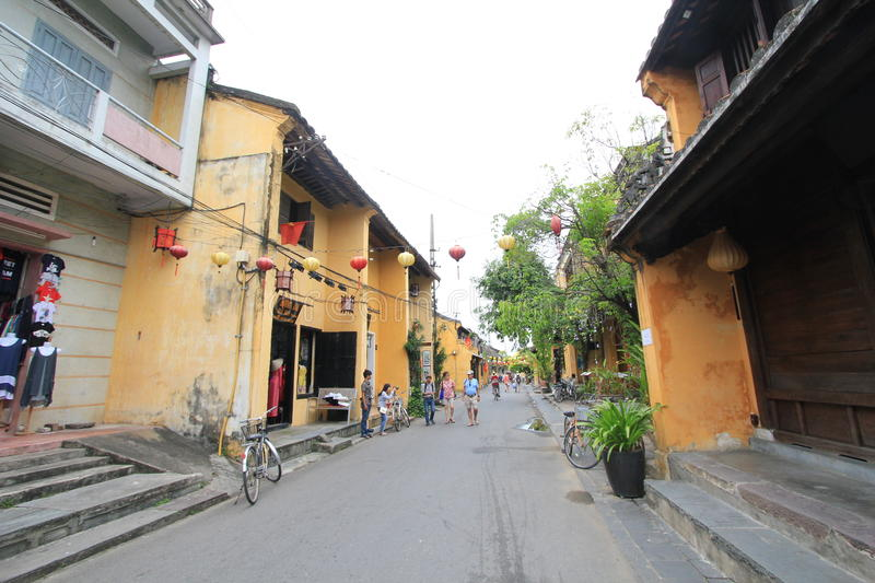 Vietname Hoi An street view. Street view of Hoi An, located in Vietnam. Hoi An is a city of Vietnam, on the coast of the South China Sea in the South Central royalty free stock photo