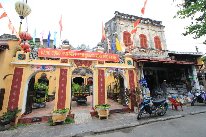 Vietname Hoi An street view. Street view of Hoi An, located in Vietnam. Hoi An is a city of Vietnam, on the coast of the South China Sea in the South Central royalty free stock image