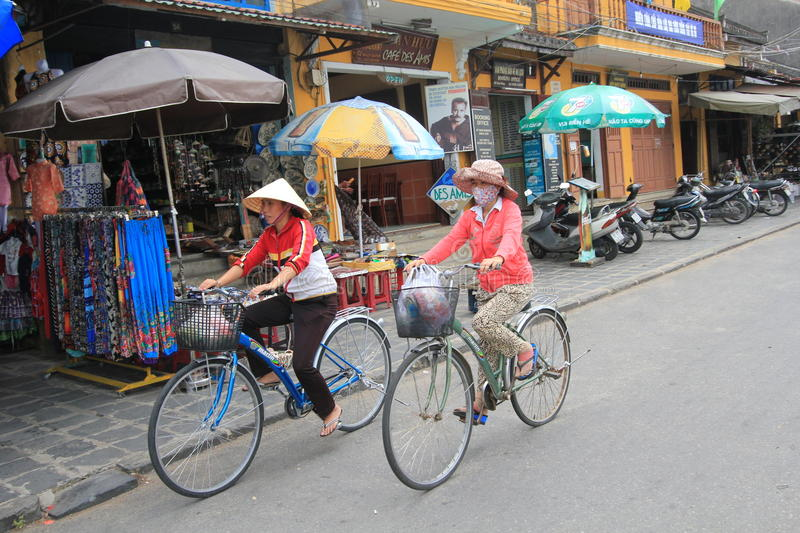 Vietname Hoi An street view. Street view of Hoi An, located in Vietnam. Hoi An is a city of Vietnam, on the coast of the South China Sea in the South Central stock images