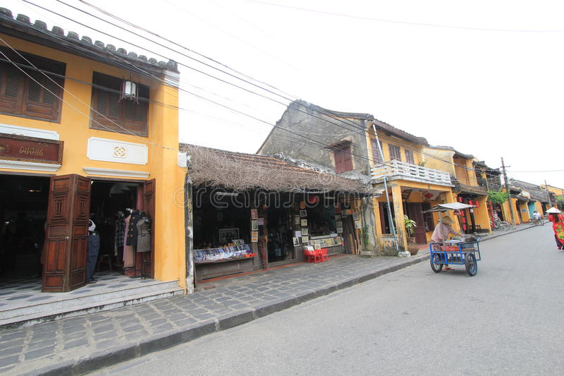 Vietname Hoi An street view. Street view of Hoi An, located in Vietnam. Hoi An is a city of Vietnam, on the coast of the South China Sea in the South Central stock image