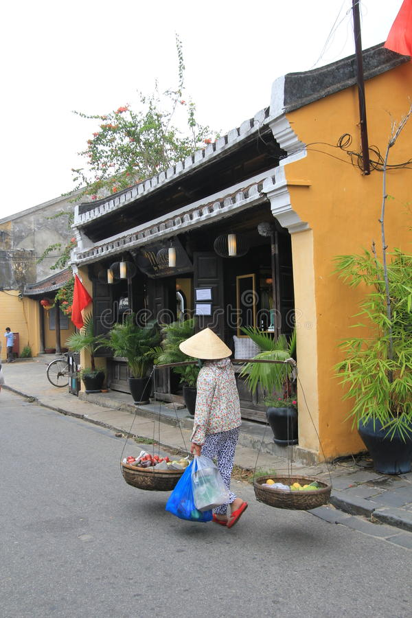Vietname Hoi An street view. Street view of Hoi An, located in Vietnam. Hoi An is a city of Vietnam, on the coast of the South China Sea in the South Central royalty free stock photography