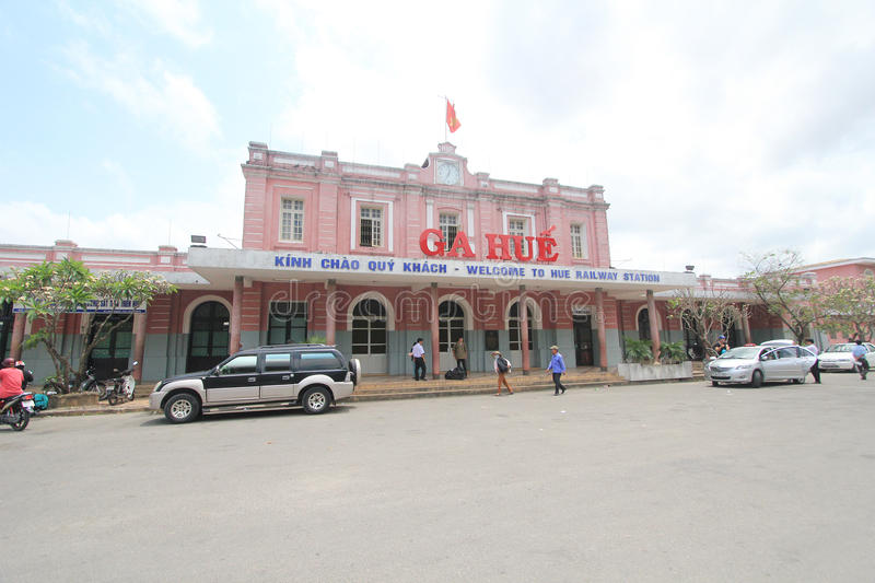 Vietname Hue Railway Station. View of Hue Railway Station. Hue Railway Station is a railway station in the city of Hue, Vietnam on the main North–South royalty free stock photography
