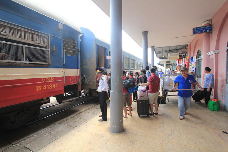 Vietname Hue Railway Station. View of Hue Railway Station. Hue Railway Station is a railway station in the city of Hue, Vietnam on the main North–South stock photo