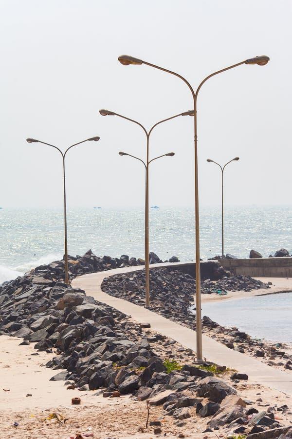 Vietname, litoral próximo às dunas de areia vermelhas fotografia de stock royalty free