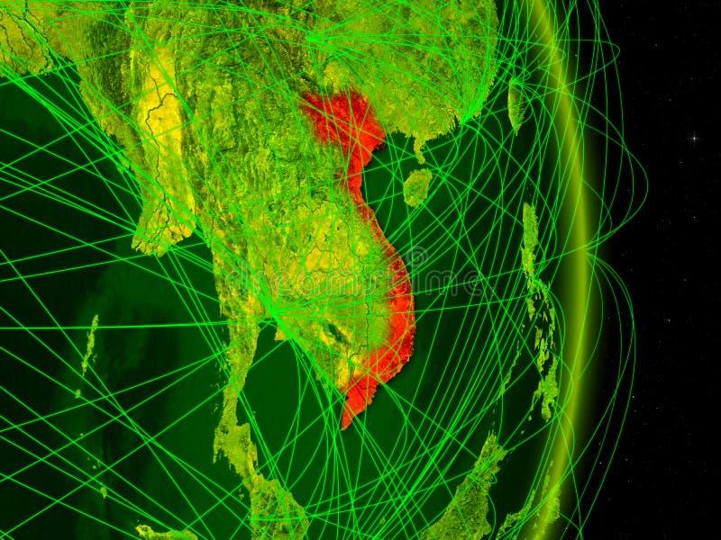 Vietname na terra digital ilustração royalty free