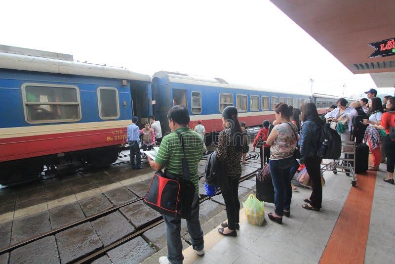 Vietname odcienia stacja kolejowa fotografia stock