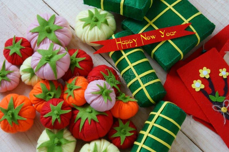 Vietname Tet, tet do banh, banh Chung, ano novo feliz imagem de stock royalty free