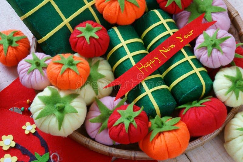 Vietname Tet, tet do banh, banh Chung, ano novo feliz imagens de stock royalty free