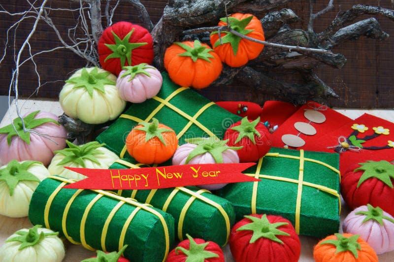 Vietname Tet, tet do banh, banh Chung, ano novo feliz fotos de stock