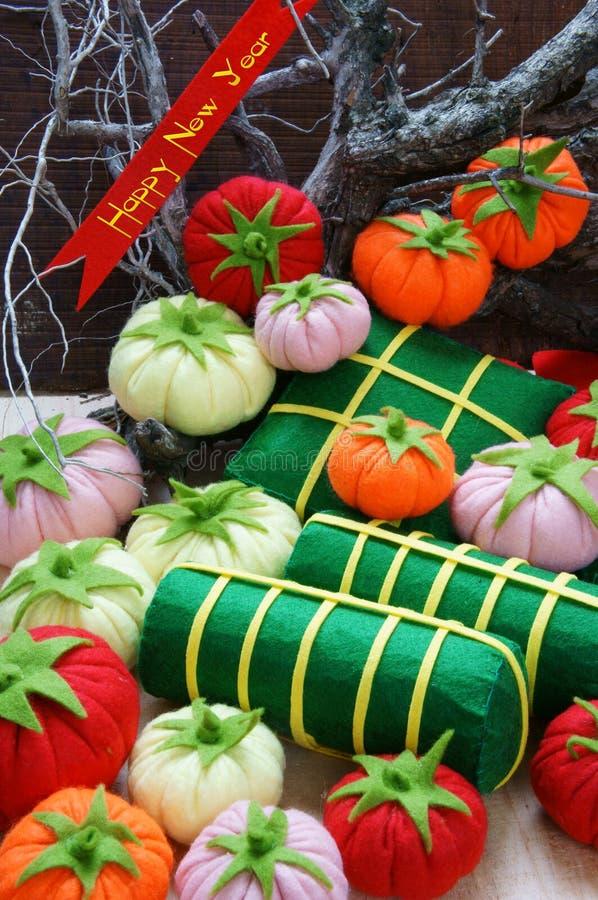 Vietname Tet, tet do banh, banh Chung, ano novo feliz imagem de stock