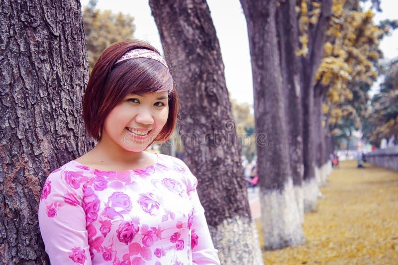 Vietnamees - ao dai stock fotografie