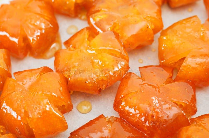 Vietnamees gezoet kumquats close-up stock foto's