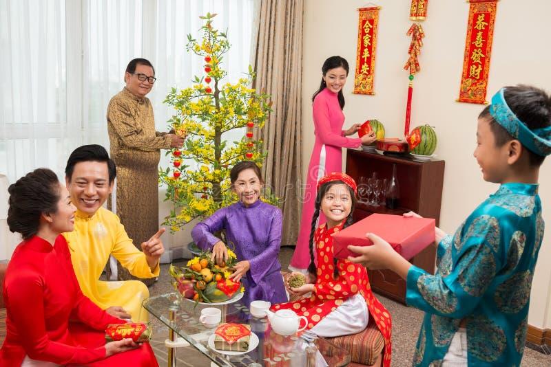 Vietnamees nieuw jaar stock fotografie