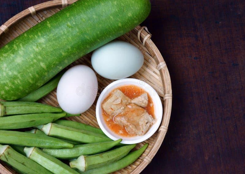 Vietnamees voedsel, vegetariër, dieetmenu stock foto