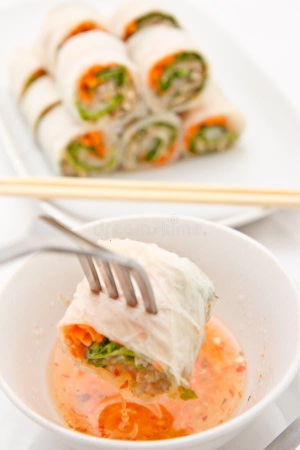vietnames för rullstilgrönsak arkivbild