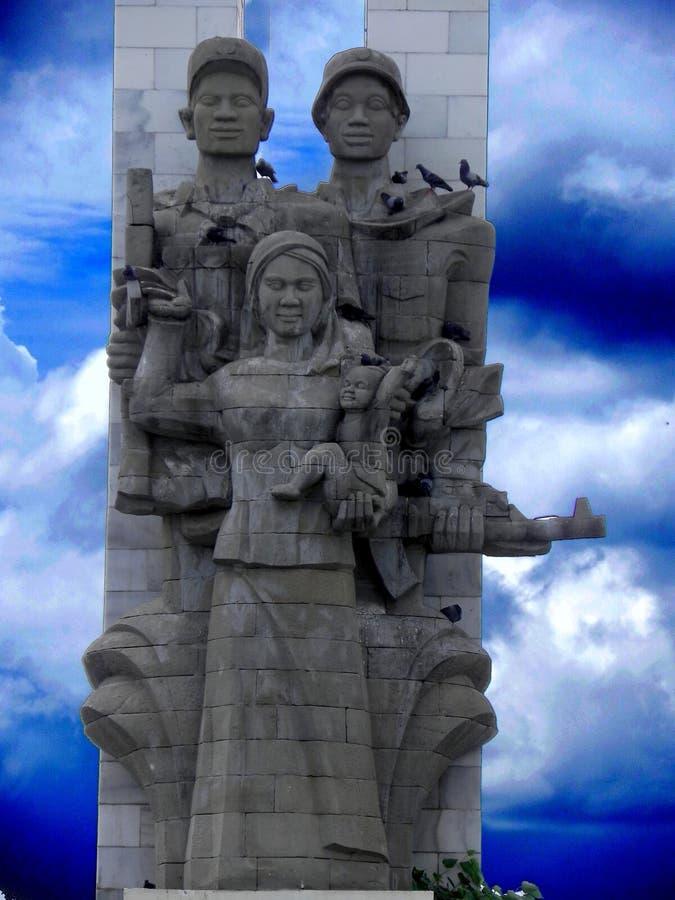 Vietnamese –Cambodia friendship monument Phnom penh Cambodia royalty free stock image