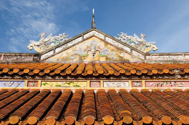 Vietnamese ancient architecture stock images