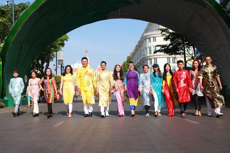 VIETNAMESE AO DAI stock photography