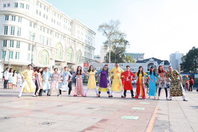 VIETNAMESE AO DAI royalty free stock photos