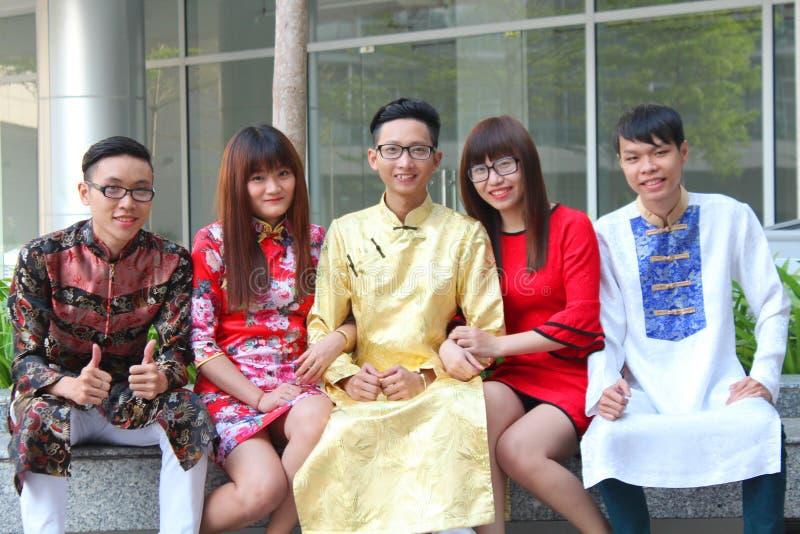 VIETNAMESE AO DAI stock photos